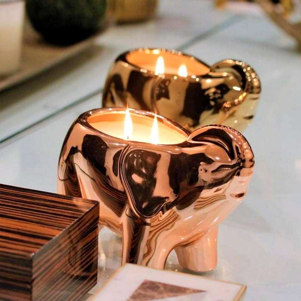 Golden elephant candle is a fragrant and beautiful