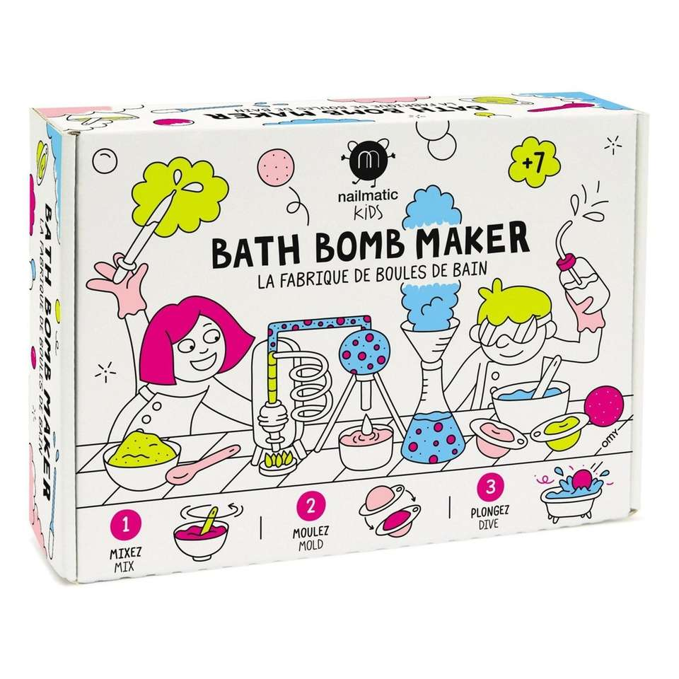 Create your own colorful bath bombs with this