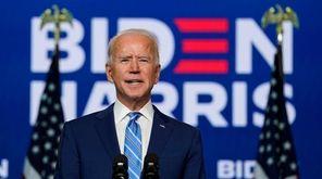 Democratic presidential nominee Joe Biden made an address