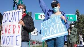 Long Islanders rallied at a Port Jefferson intersection