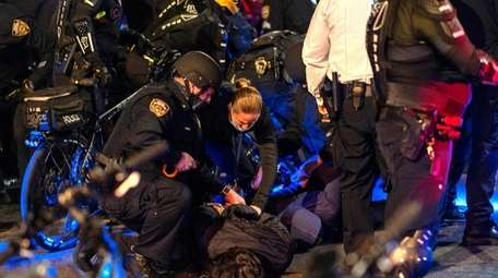 Dozens of people were arrested during protests in