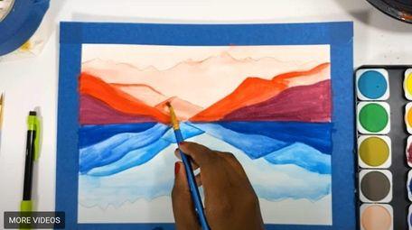 Marie Saint-Cyr of Wyandanch runs a virtual arts