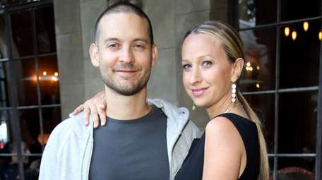 Tobey Maguire and Jennifer Meyer seen in