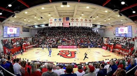 A general view during a men's basketball game
