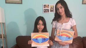 Marie Saint-Cyr, 25, of Wyandanch, teaches an art