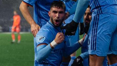 NYCFC forward Valentín Castellanos after last Sunday's victory