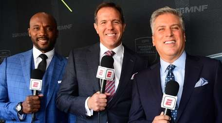Louis Riddick, Brian Griese and Steve Levy during