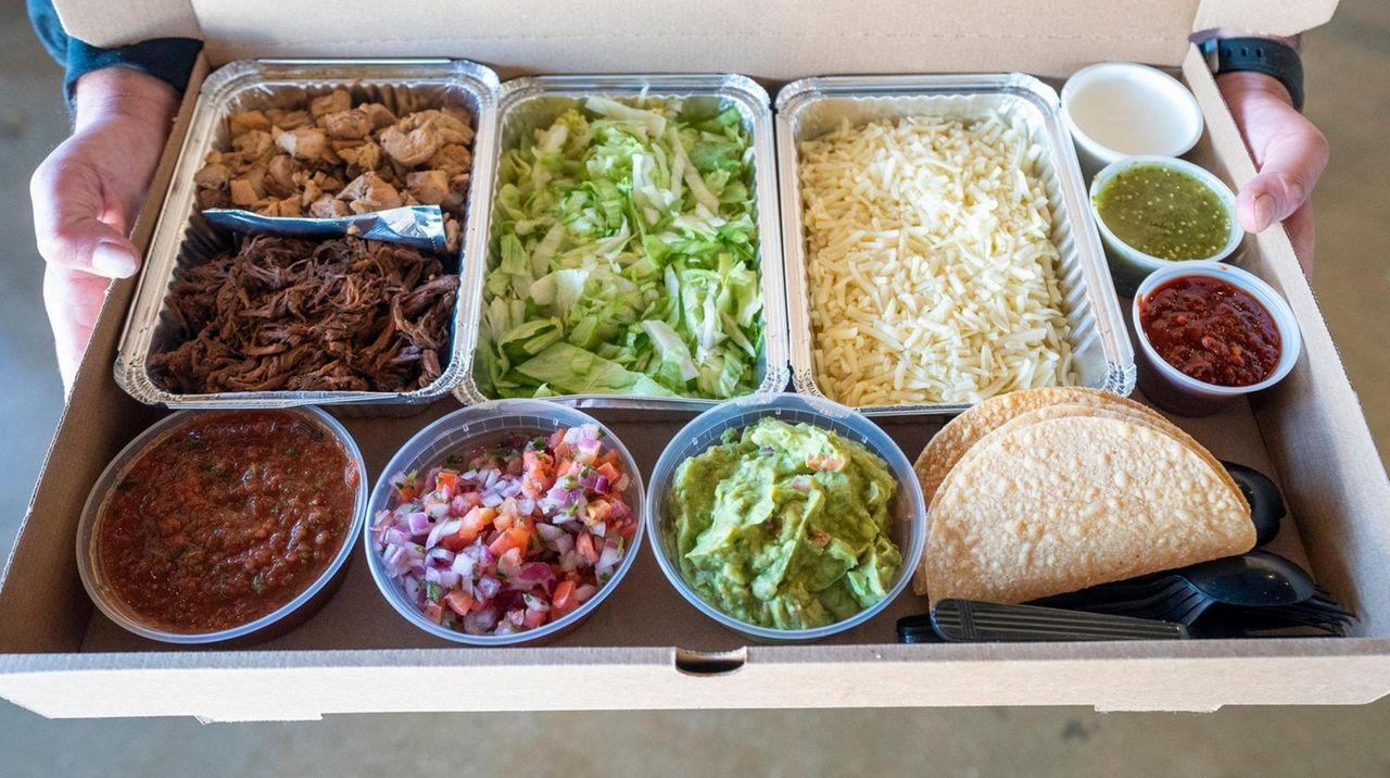 The taco boxes at Right Coast Taqueria have