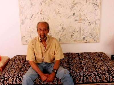 Frank Wimberley sits in his house in Sag