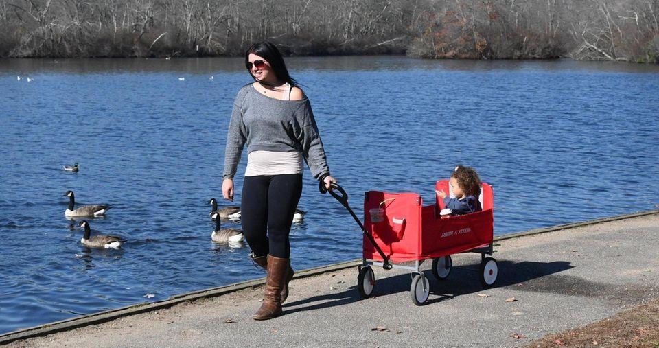 Amanda Nize, of Bay Shore, enjoys the outdoors