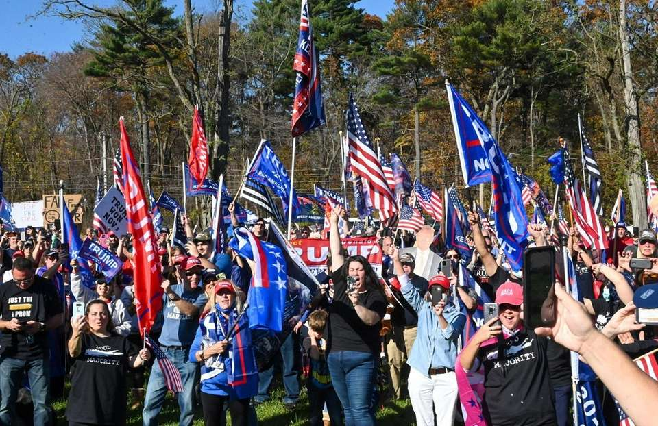 Over 1,000 Trump supporters rallied for President Donald