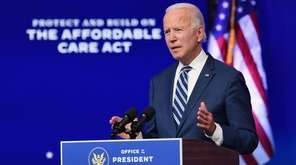 President-elect Joe Biden spoke at a press conference