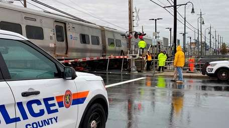 A person was struck by a train just