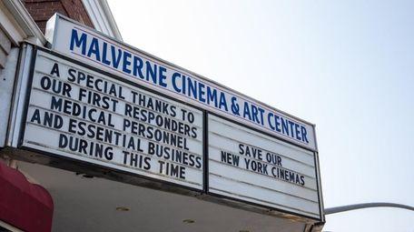 The Malverne Cinema and Art Center facade on