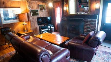 The fireplace room in the windmill house at