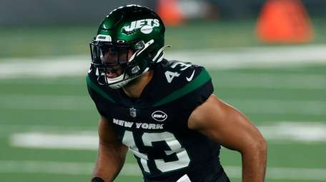 New York Jets tight end Ross Travis (43)