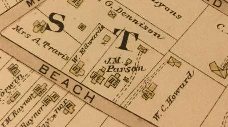 A map from 1902 showing the properties on