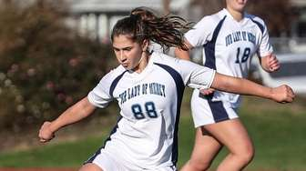 Catarina Chelius of Our Lady of Mercy clears