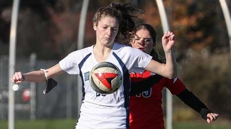 Meghan Andersen of Our Lady of Mercy maintains