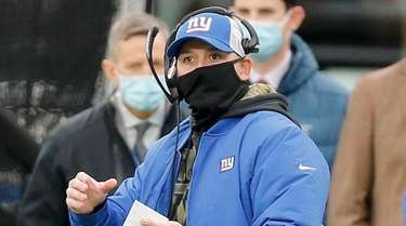 Giants head coach Joe Judge against the Philadelphia