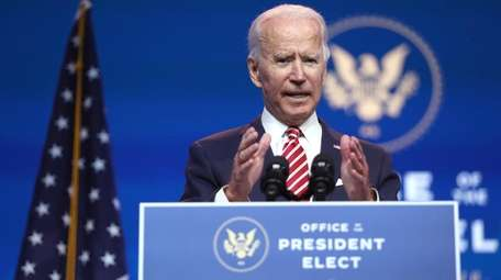 President-elect Joe Biden speaks Monday about the U.S.