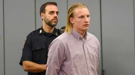 Patrick Poillon appears at his arraignment in First