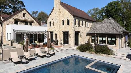 The house comes with a salt-water pool.
