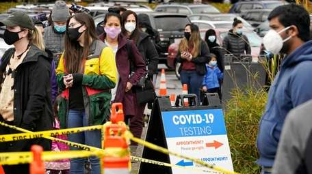 People lined up Wednesday to be tested for