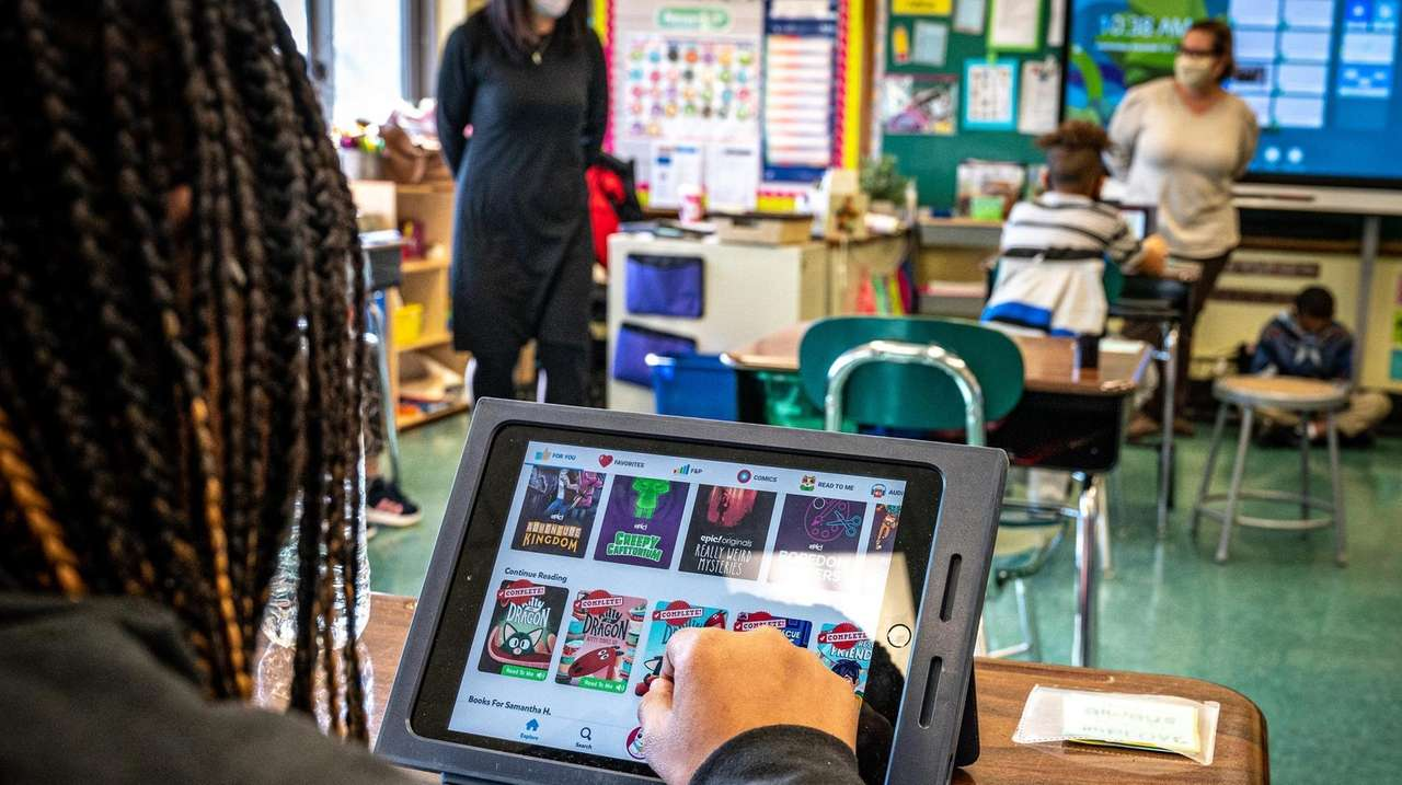 In the Elmont district, with six schools serving