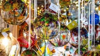 The glass balls and orbs sold at Sayville