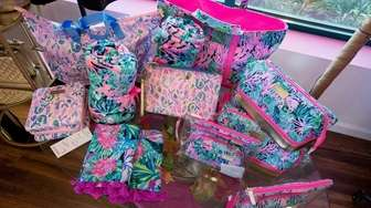 Lily Pullitzer bags and blankets at The Pink