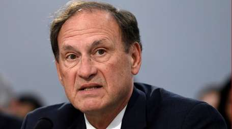 Supreme Court Justice Samuel Alito testifies before the