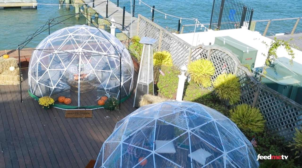 Igloos and private greenhouses are among the many