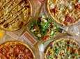 Pies from Blaze Pizza, which has opened a