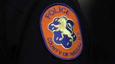 A Nassau County Police Department patch during a