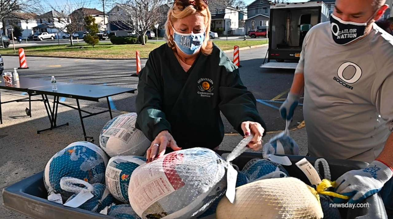 Food drives were held on Long Island on