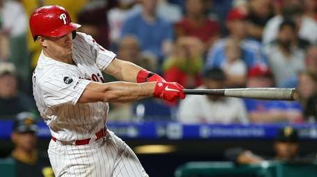 J.T. Realmuto of the Phillies hits a home