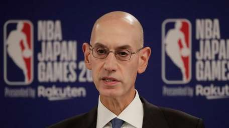 NBA Commissioner Adam Silver speaks at a news