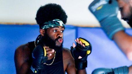 UFC bantamweight fighter Aljamain Sterling works with Nazim