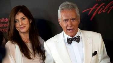 Alex Trebek and wife Jean Currivan Trebek attend