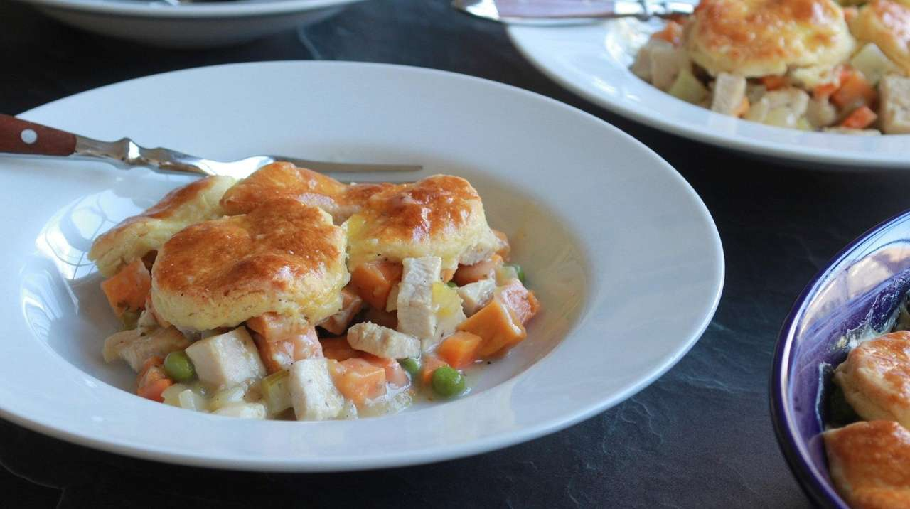 Turkey pot pie recipe uses up Thanksgiving leftovers