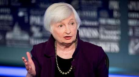 File photo former Fed Chair Janet Yellen speaks
