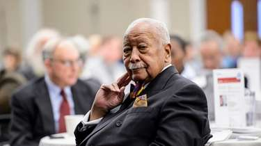 Former New York City Mayor David Dinkins attends
