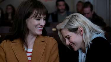 Mackenzie Davis (L) and Kristen Stewart star in