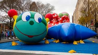 The giant balloons at this year's Thanksgiving Day
