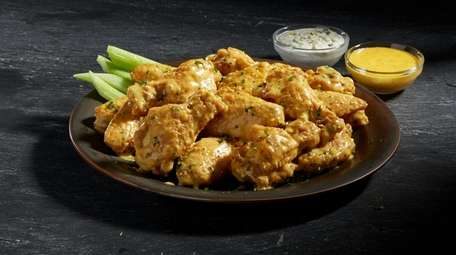 Garlic-parmesan wings from Wings of New York, the