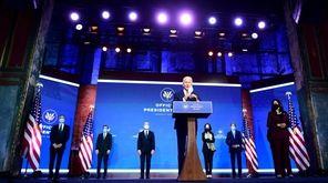 President-elect Joe Biden announced key members of his