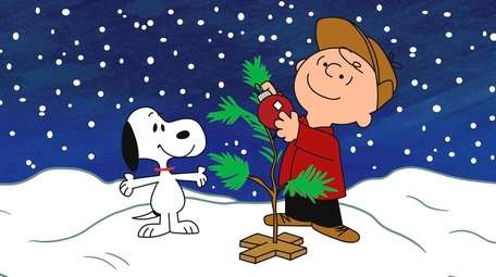 Snoopy and Charlie celebrate