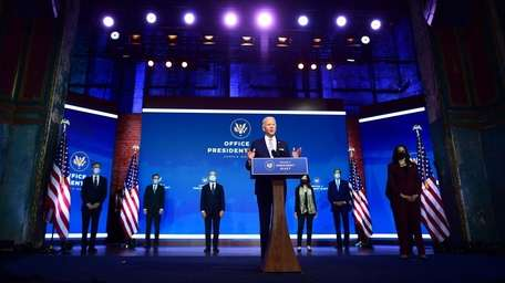 President-elect Joe Biden with his picks for top