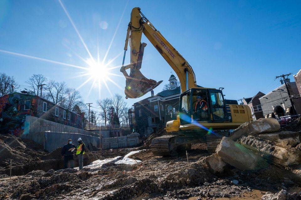 Developer George Tsunis has begun construction on the